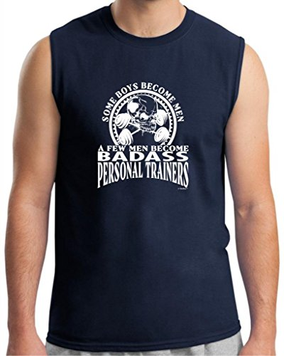 Created Equal, A Few Men Become Personal Trainers Sleeveless T-Shirt Large Navy