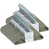 JVL Lot de 50 cintres à revêtement en velours antidérapant Beige