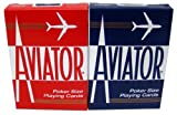 Quality Aviator Casino Playing Cards - 2 Decks