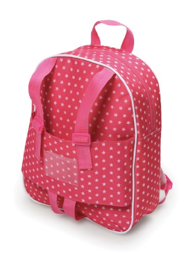 Badger Basket Doll Travel Backpack - Star Pattern (fits American Girl dolls) - 1