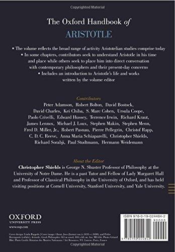 The Oxford Handbook of Aristotle (Oxford Handbooks)