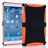A Fashion Case Shop Ipad Air Case, Ipad Air Case Cover - Ipad 5 Shock-absorption / Impact Resistant Hybrid Dual Layer Armor Defender Protective Case Cover with Built-in Kickstand for Apple Ipad Air 5th Gen 2013 (Three Month Warranty) (Gift for Screen Protector Film and Clean Cloth) (ipad air orange)