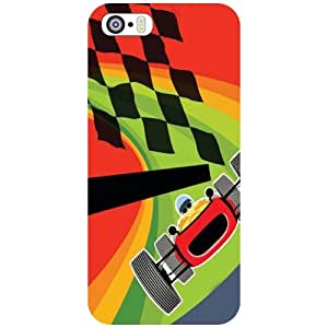 Apple iPhone 5S Back Cover - Racing Path Designer Cases