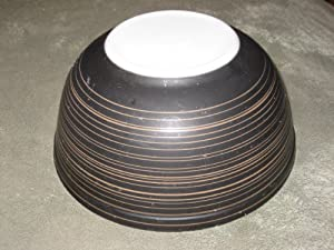 Vintage Pyrex TERRA Dark Brown Stripe 2 1/2 Quart Mixing Nesting Batter Bowl