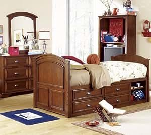 Lea Deer Run 4 Piece Captain Kids 39 Bedroom Set In Brown Cherry Home Kitchen