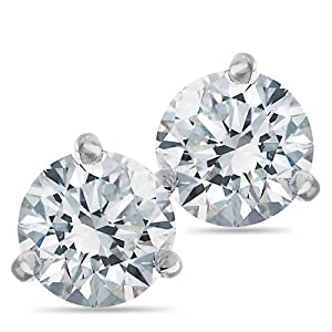 Passion Stone, 14K White Gold Diamond Earrings, 2.00 ctw.