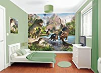 Walltastic Dinosaur Land Wallpaper Mural 8ft x 10ft by Walltastic Ltd