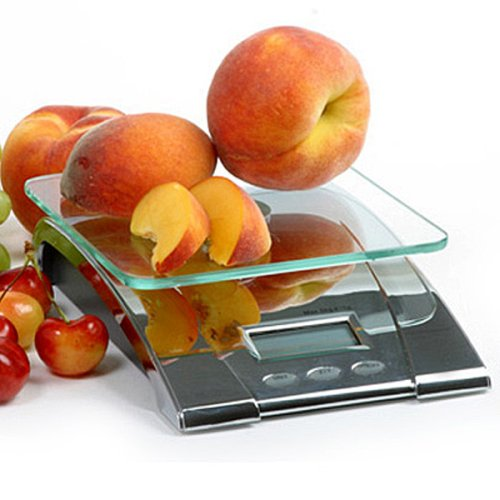 Norpro Digital Kitchen Scale Glass Top Diet Weigh Meat Fruit Vegetables New