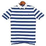 ポロ ラルフローレン POLO RALPH LAUREN ワンポイント ラガーシャツ 半袖 323 191785 鹿の子 ゴルフ ボーダー ボーイズ メンズ(男性用) 兼 レディース(女性用) [並行輸入品]