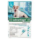 Bayer Advantage II, Dog, 11-20 lbs, 4pk