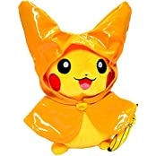 Generic Raincoat Pikachu Pokemon Monthly Rainy Season Plush Toy Stuffed Animal Soft Figure Doll 8""