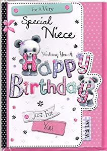 Niece Birthday Card - For A Very Special Niece Wishing You ...
