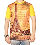 The Desi Attire Men's Cotton Lycra T-Shirt (T-101616_38_Black)