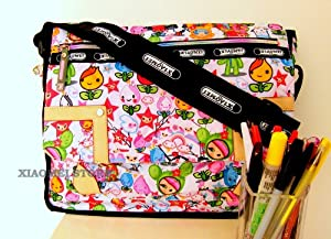 Xiaomei Colourful Cartoon Childrens A4 Messenger Style Bag C626 - For School Or College Etc from XIAOMEI