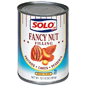 Solo Nut Filling, 12.5-Ounces (Pack of 6)