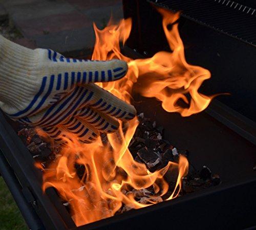JL Future 耐熱グローブ 耐熱温度350℃ BBQ専用手袋 Lサイズ 1双(青)