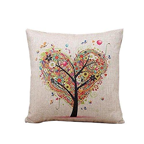 tonwalk Love Lino federa per cuscino decorativo, 45x 45cm