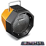 Yamaha Wireless Bluetooth Stereo Speaker System Boombox Travel/Portable (Battery) or Mains Powered Bass Response Subwoofer Sub - iPhone 6/6 Plus/ 5/5S/5C/4/4S, iPad Air 2 Mini, Samsung Galaxy S2/S3/S4/S5, Note Tab, HTC One M8, Macbook Pro Air Laptop TV PC (Orange)
