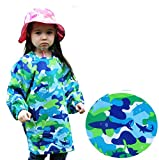 Long Sleeve School Art Painting Apron Smock Coverall Breathable Adjustable in Size Preschool 3 5 Years Blue Shark