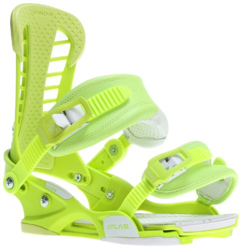 Union Atlas Snowboard Bindings Acid Green Mens Sz L/XL (10.5-14)