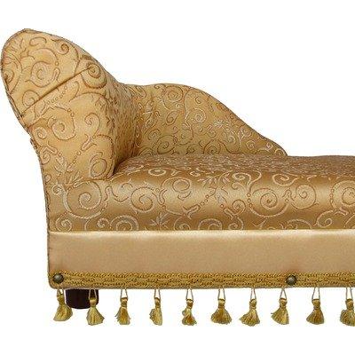 Fantasy Furniture Mini Chaise Elegant Gold Pet