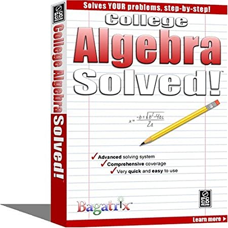 College Algebra Solved!