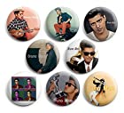 Bruno Mars Pinback Buttons,8pcs Pin Badges,1.25 inch, Best For Jacket,T-Shirts