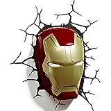 Iron Man 3D Deco Wall Light / Nightlight