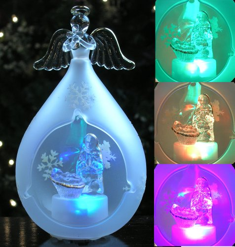 Nativity Light Up Christmas Ornament Led Color-Changing