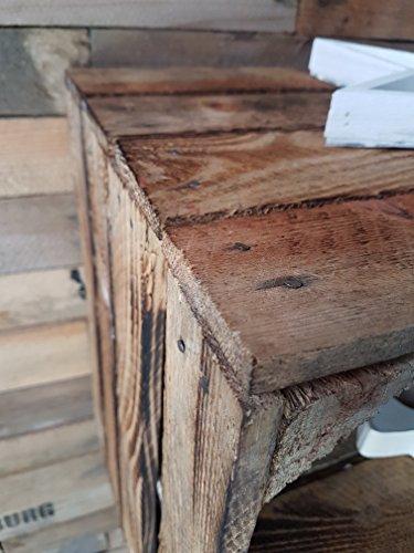 2 x alte obstkiste gebraucht geflammt mit zwischenboden holzkisten mit regal von cronenwerth. Black Bedroom Furniture Sets. Home Design Ideas