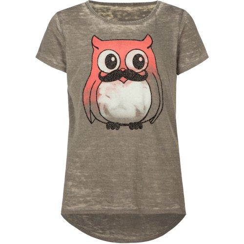 Full Tilt Owl Mustache Girls Tee