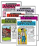 img - for Sign Language Coloring Book: Educational Coloring Books for Elementary andPre School Children (Set of 6 - Clowns, House, Opposites, Animals, Feelings, Sun) book / textbook / text book