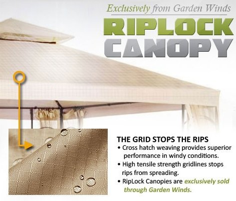 Garden Winds Oval Dome Gazebo Replacement Canopy, Riplock 500
