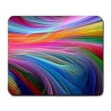 Fractall Rainbow Ocean Mouse Pad