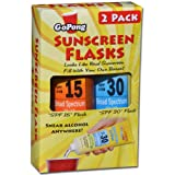GoPong Hidden Sunscreen Alcohol Flask, 2-Pack
