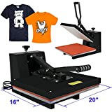 Super Deal 5 in 1 Multifunction Heat Press Machine Transfer Sublimation T-Shirt Mug Hat Plate Cap Mouse Pad Black (5 in 1)