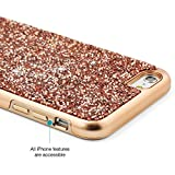 "iPhone 6s Plus case, Prodigee [Fancee] Rose Gold for iPhone 6 Plus (2014) / 6s Plus (2015) 5.5"" Cell Phone Case w/ Dazzling Sparkle Back [1-YEAR WARRANTY]"