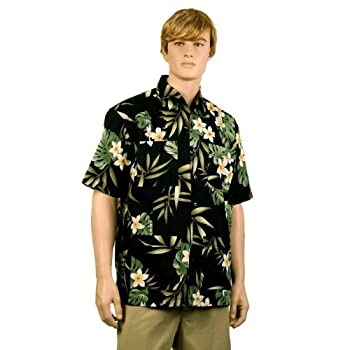Black Plumeria Hawaiiabera Shirt