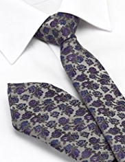 Limited Collection Floral Tie with Handkerchief