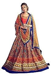 Viva N Diva Women's Multi Banglori Silk Printed Lehenga.