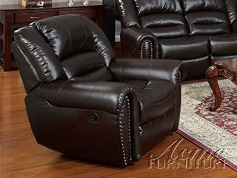ACME 50287 Ralph Recliner with Brown Bonded Leather