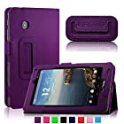 Infiland Folio PU Leather Slim Fit Stand Case Cover for 7inch Verizon Ellipsis 7 4G LTE Tablet,Purple