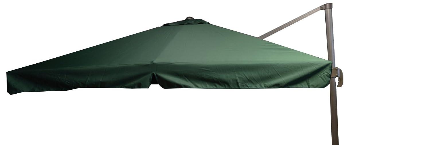 beo Sonnenschirme wasserabweisend ohne Standfuß Sonnenschutz, eckig, 3 x 3 m, grün