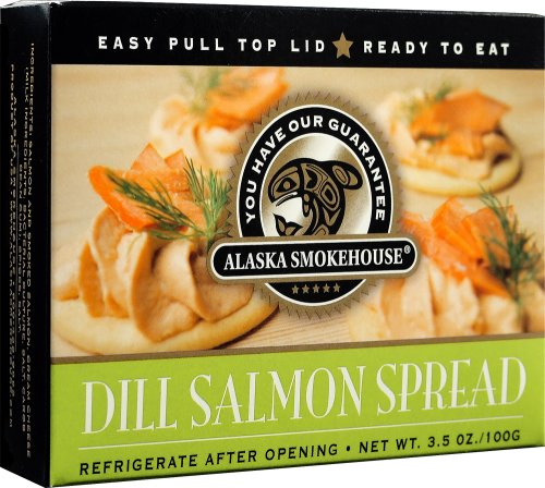 Alaska Smokehouse Dill Salmon Spread Serving  Design, 3.5 Ounce Boxes (Pack of 6)