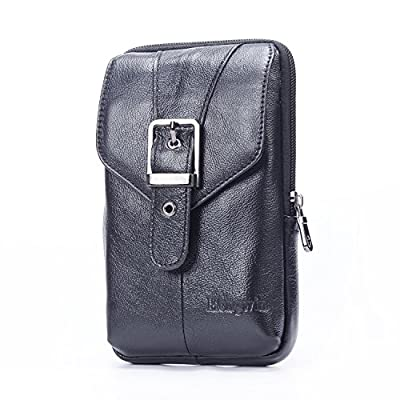 Cell Phone Belt Pouch Holder Case,Leather Small Crossbody Shoulder Bag with Clip from Perfectmade