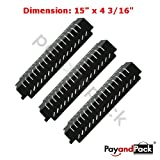 94011 (3-Pack) Gas Grill Replacement Parts Porcelain Steel Heat Plate for Centro, Charbroil, Costco Kirkland, Thermos Model Grills
