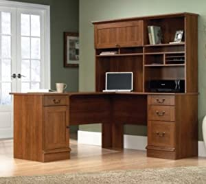 Shaped Desk with Hutch by Sauder