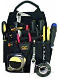 Custom Leathercraft 5505 Professional Electrician's Tool Pouch, Ballistic Poly, 12-Pocket