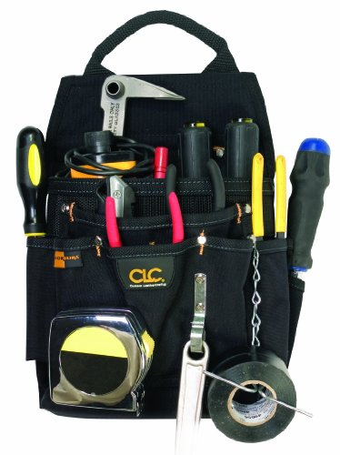 Custom Leathercraft 5505 Professional Electrician's Tool Pouch, Ballistic Poly, 12-Pocket (Plumbers Tool Pouch compare prices)