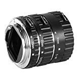 Neewer® Auto Focus Macro Extension Tube Set for Canon EOS DSLR SLR Lens, Extreme Close-Ups (Silver) (Metal Bayonet 13-21-31mm)
